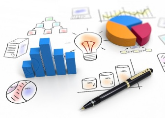 Business charts and graphs as concept